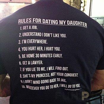 Nézze meg a 8 szabályt a lányom online randevához